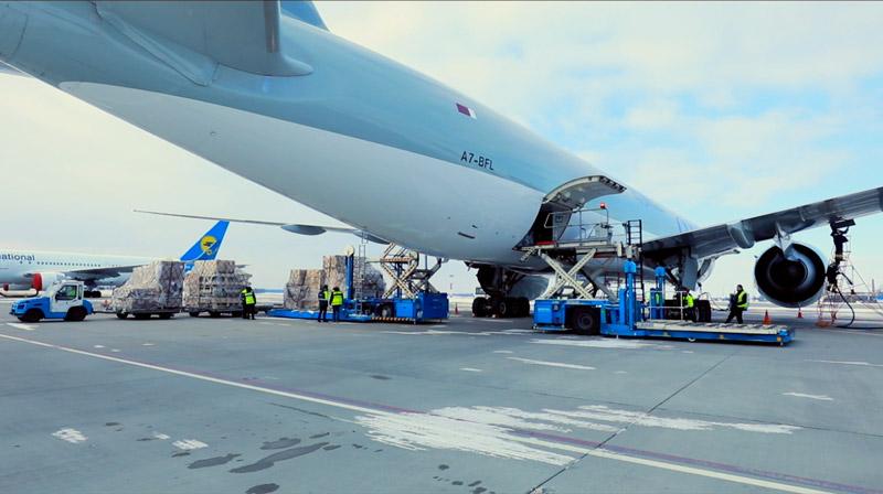 Процесс обработки грузов в аэропорту Бориполь