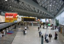 Зал регистрации в терминале аэропорта Франкфурт