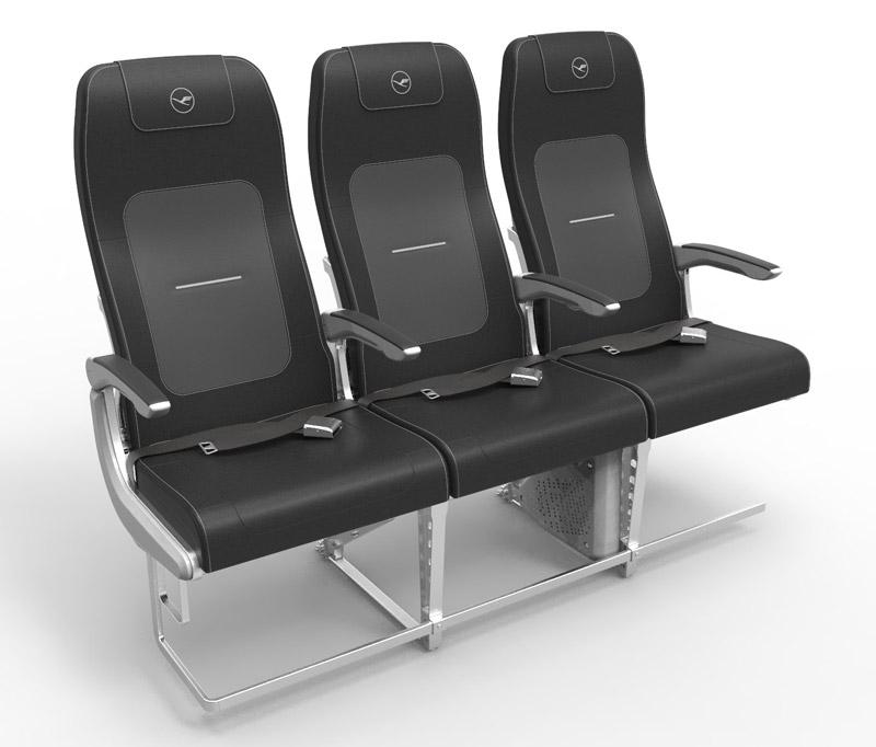 Новые кресла в стилистике Lufthansa