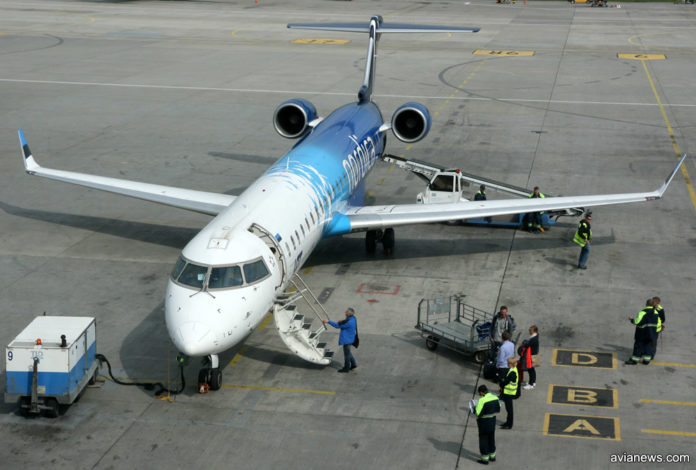 Самолет Bombardier CRJ 900 авиакомпании Nordica