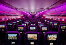 Развлекательная система на борту самолета Qatar Airways