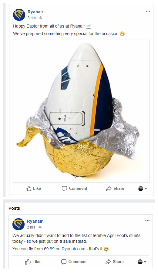 Публикации Ryanair 1 апреля