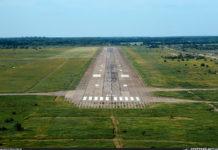 Полоса с искусственным покрытием в аэропорту Запорожье