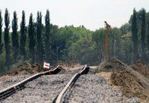 Железнодорожные пути в сторону аэропорта Борисполь