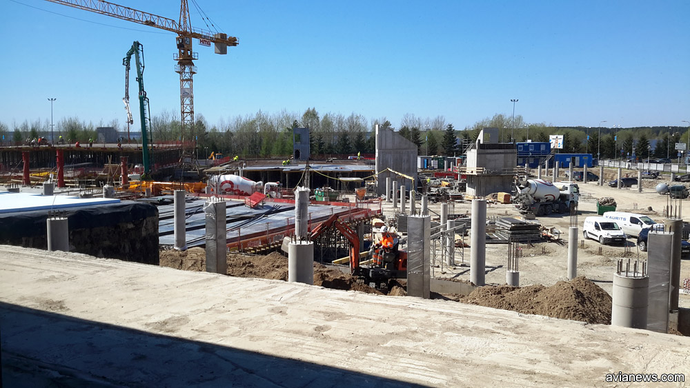Строительство многоуровневого паркинга в аэропорту Таллинна