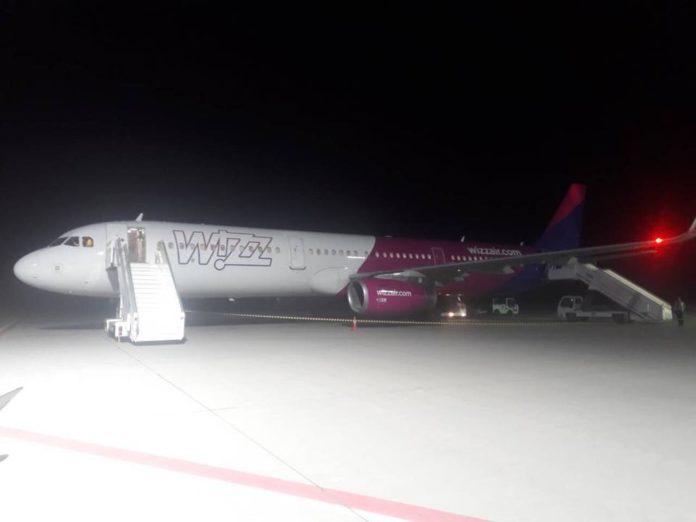 A321 Wizz Air в аэропорту Львов
