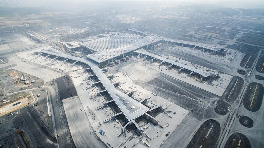 Новый аэропорт Стамбула по состоянию на май 2018 года