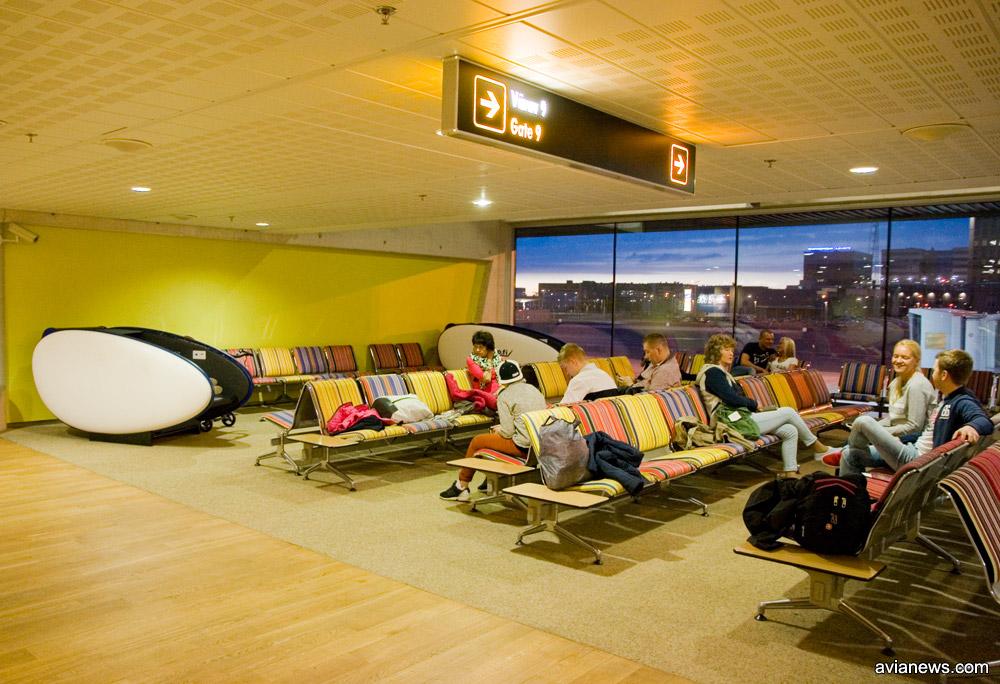 Зал ожидания в аэропорту Таллинна