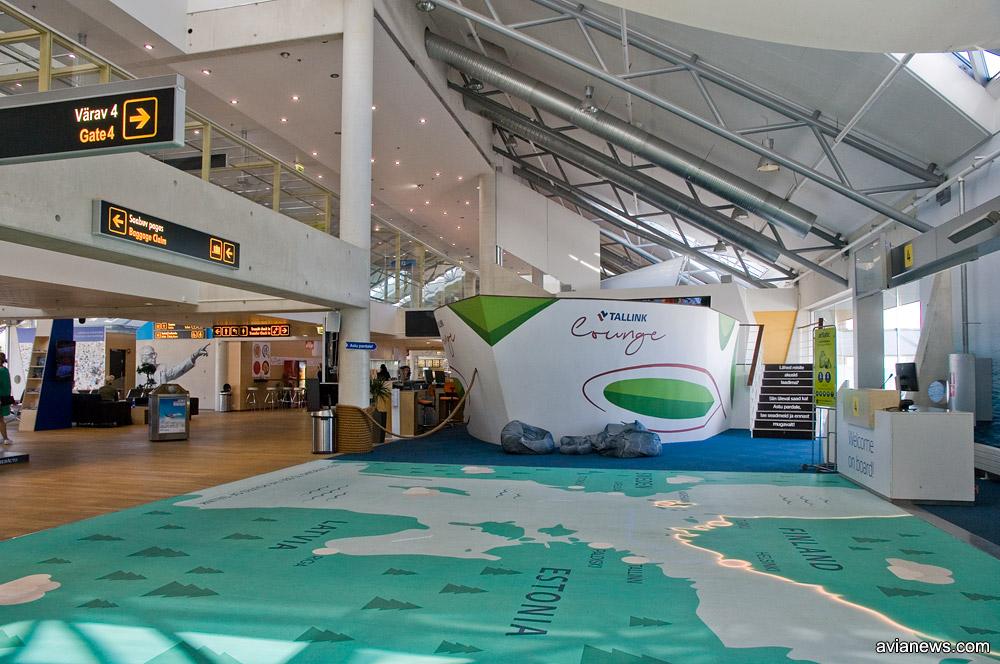 Лаунж-зона в виде корабля в аэропорту Таллинна