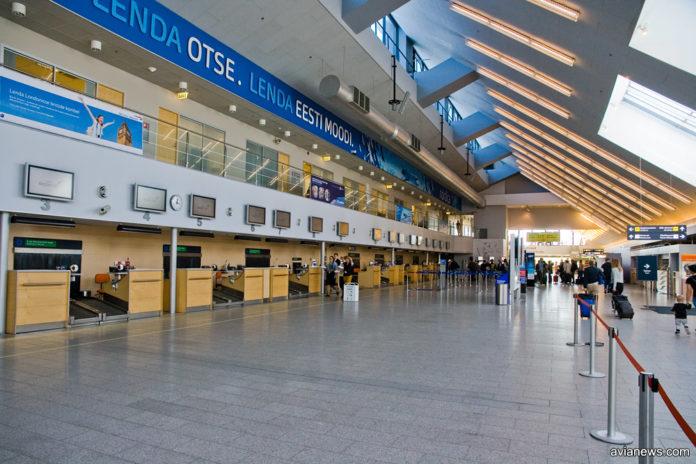 Зал регистрации в аэропорту Таллинна