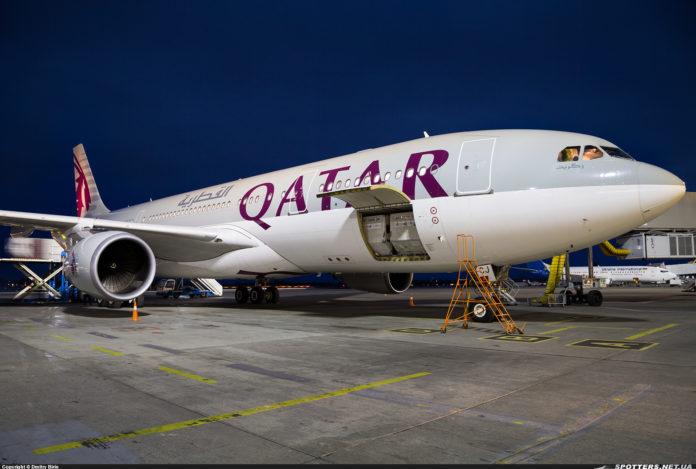 Airbus A330-200 Qatar Airways в аэропорту Борисполь
