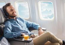 Бизнес-класс в самолете Air Astana. Фото авиакомпании
