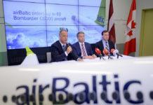 Глава airBaltic Мартин Гауcc объявляет о твердом заказе на 30 Bombardier CS300