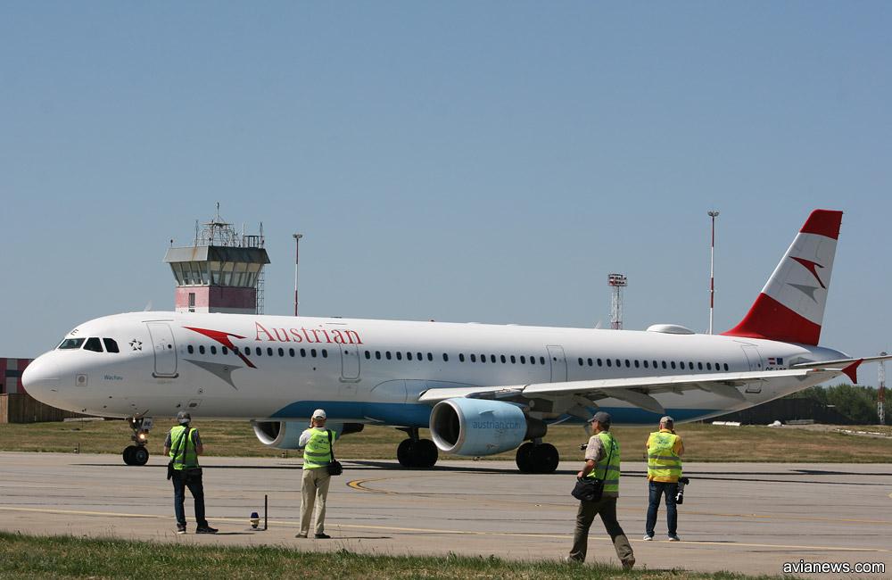Airbus A321 (семейство Airbus A320) авиакомпании Austrian Airlines