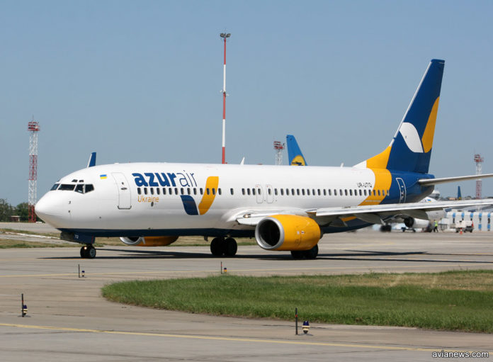 Boeing 737-800 авиакомпании Azur Air Ukraine