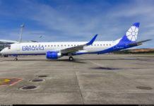 "Embraer 195 ""Белавиа"" в новой ливрее авиакомпании"