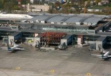 Строительная площадка трансферной зоны терминала D по состоянию на 19 апреля 2018 года. Фото: avianews.com