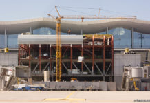 Строительная площадка трансферной зоны терминала D по состоянию на 26 мая 2018 года. Фото: avianews.com