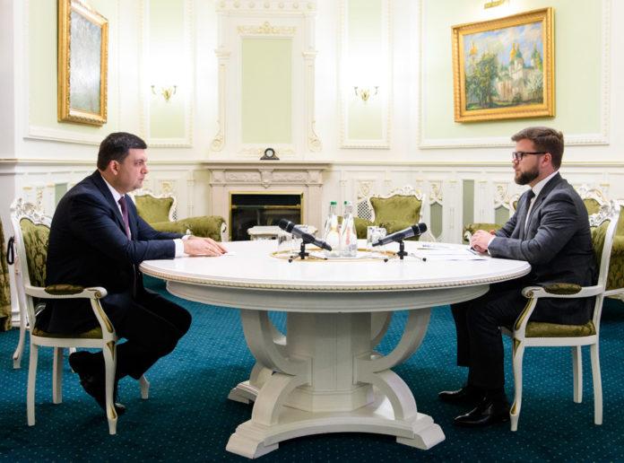 Евгений Кравцов на встрече с Владимиром Гройсманом