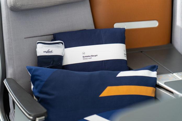Новые постельные принадлежности бизнес-класса на дальнемагистральных рейсах Lufthansa