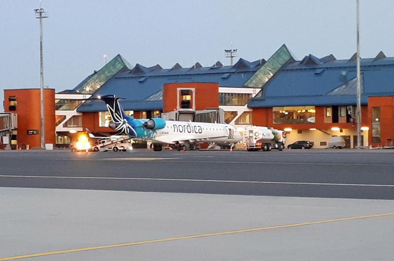 Bombardier CRJ 700 авиакомпании Nordica в аэропорту Таллинна