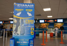Стойка регистрации Ryanair в аэропорту