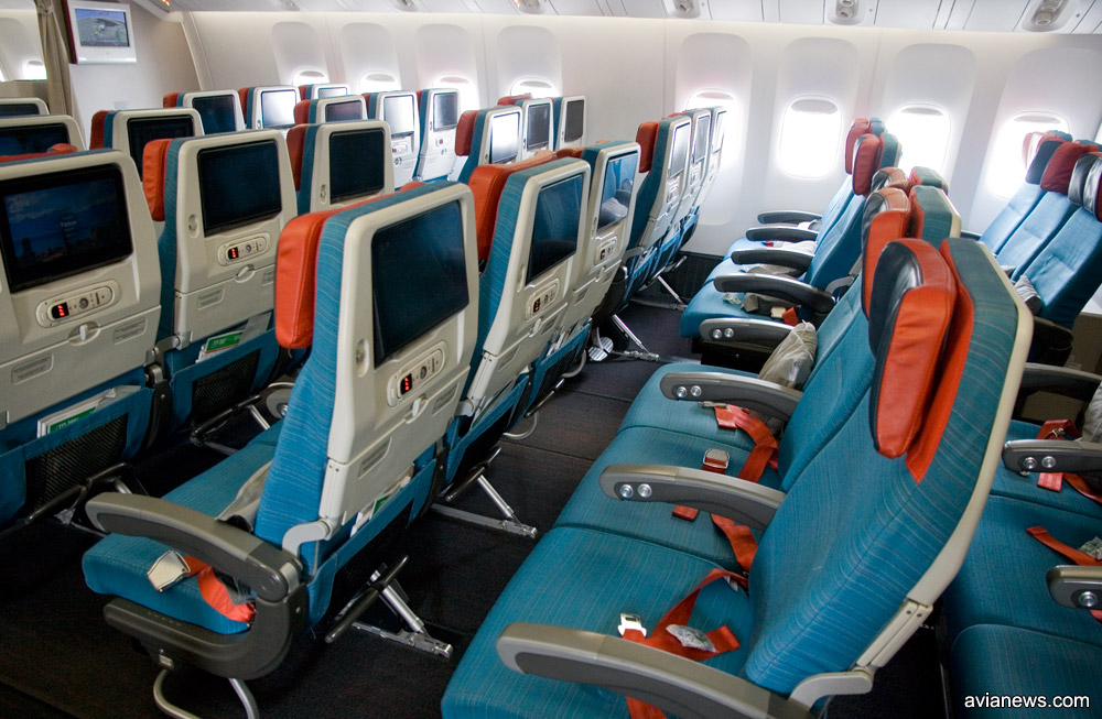 Эконом-класс в Boeing 777-300 Turkish Airlines