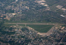 Аэропорт Жуляны с высоты