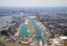 Аэропорт Лондон-Сити, вид с высоты
