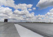 Взлетно-посадочная полоса в аэропорту Запорожье. Фото аэропорта