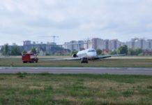Выкатившийся с полосы в Жулянах MD-83 Bravo Airways по состоянию на 15 июня 2018 года. Фото: Ukraine Aviation Museum
