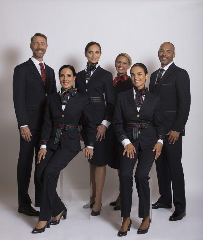 Новая форма персонала Alitalia, введенная в 2018 году