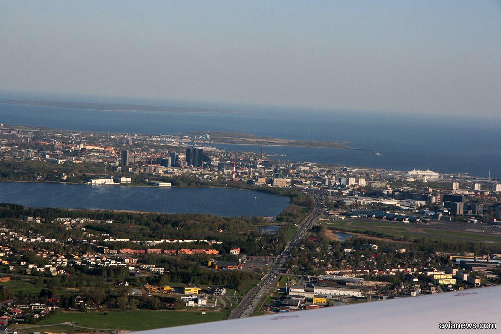 Вид на Таллинн во время ухода на второй круг