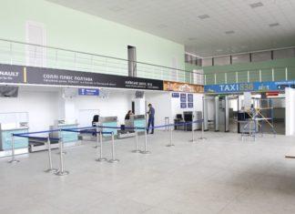 Зона регистрации и зона контроля пассажиров в аэропорту Полтава