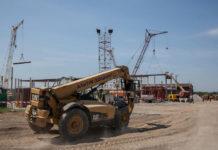 Строительство нового терминала в аэропорту Запорожье. Июнь 2018 года. Фото: Запорожский горсовет