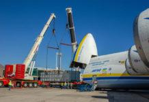 """Процесс погрузки генераторов в Ан-225 Мрия, фото: ГП """"Антонов"""""""