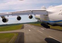 """Взлет Ан-225 Мрия. Скрин из видео ГП """"Антонов"""""""