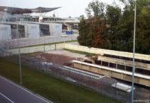 Строительство железнодорожной платформы в аэропорту Борисполь. Фото: avianews.com