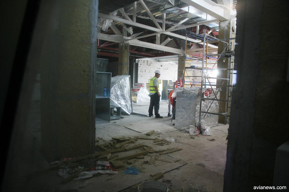 Строительство новой трансферной зоны в терминале D по состоянию на 6 июля 2018 года. Фото: avianews.com