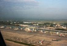 Вид на терминал D аэропорта Борисполь с высоты, июль 2018 года.