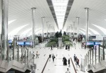 Зал вылета в терминале 3 аэропорта Дубая. Фото: Dubai Airports