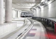 Автоматический поезд в аэропорту Мюнхена