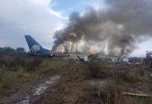 Сгоревший в аэропорту Дуранго Embraer 190 Aeromexico