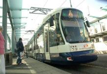 Городской трамвай Bombardier в Женеве