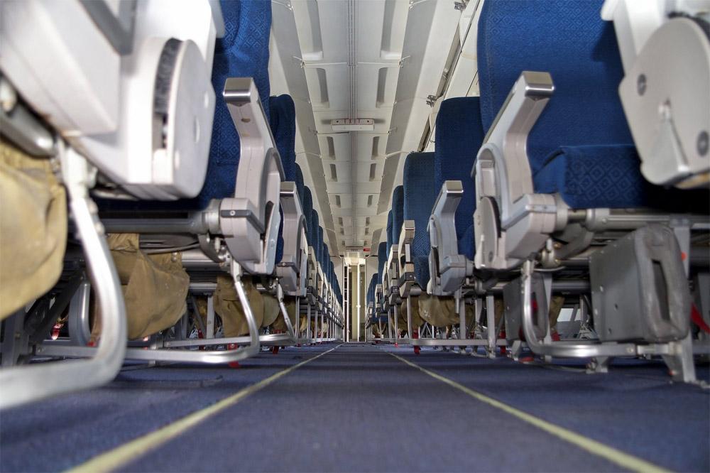 "Пассажирский салон Boeing 737-200 ""АэроСвита"", который купил аэропорт Борисполь"