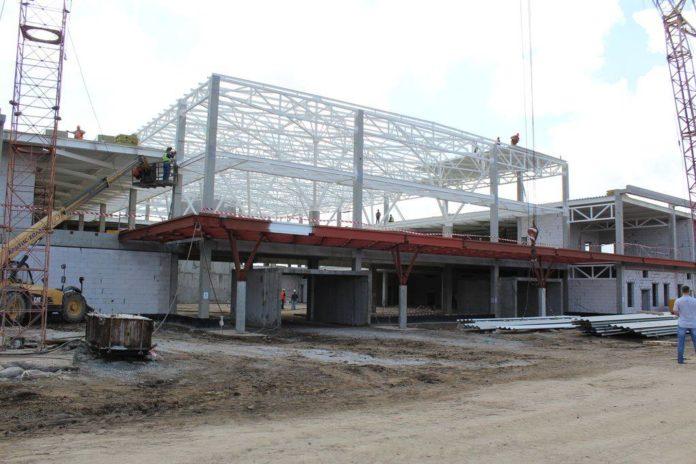 Строительная площадка нового терминала в аэропорту Запорожье по состоянию на 12 сентября 2016 года. Фото: аэропорт Запорожье