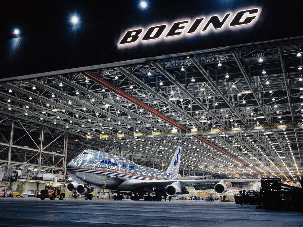 Boeing 747-400 на заводе Boeing
