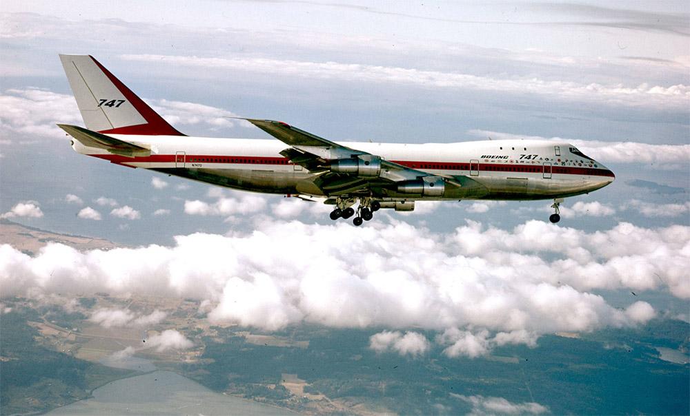 Первый полет самолета Boeing 747, 9 февраля 1969 года