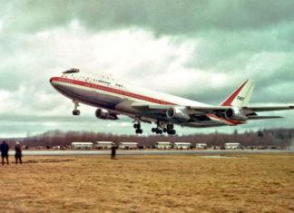Первый полет Boeing 747 9 февраля 1969 года