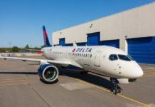 Airbus A220-100 в ливрее Delta Air Lines